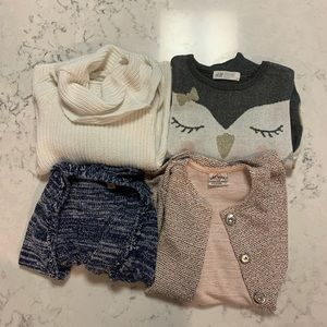 Lot of Girls Sweaters Size 4T - 6